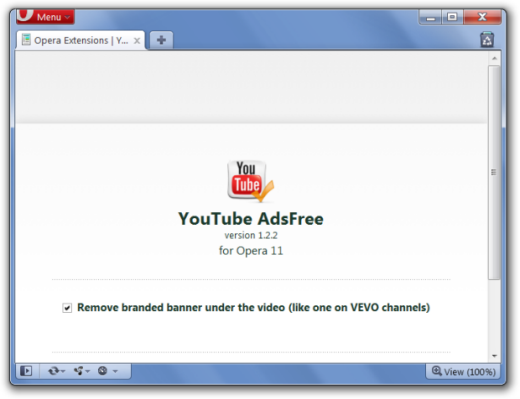 How to use opera extension download from youtube