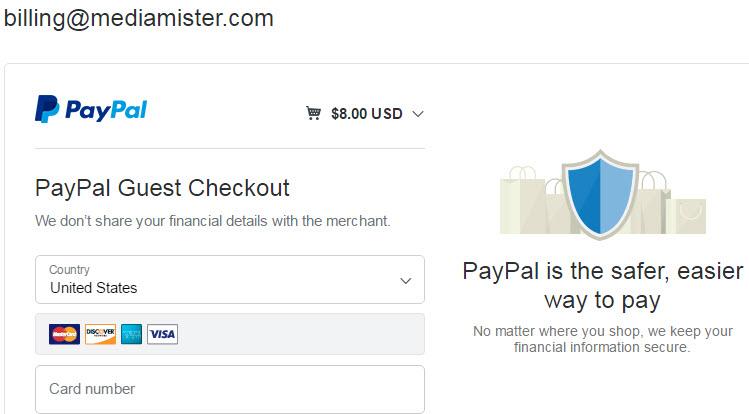 Buy linkedin followers - Card Payment