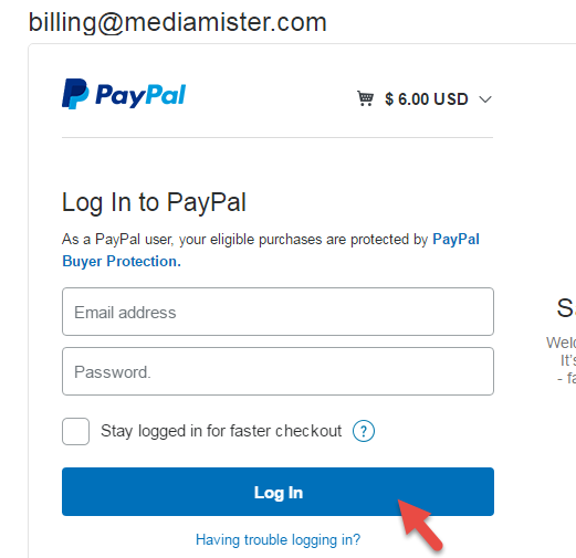 paypal online login