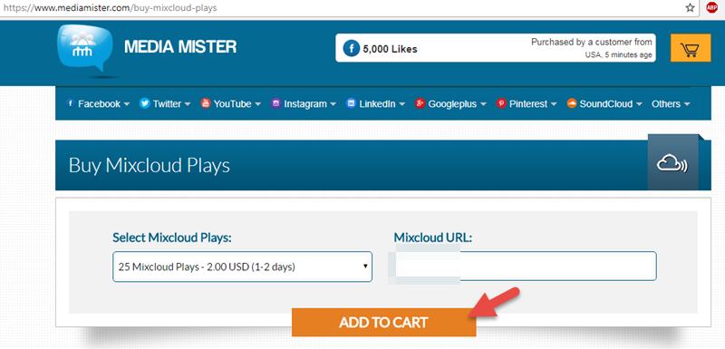 Buy Mixcloud Plays Add To Cart