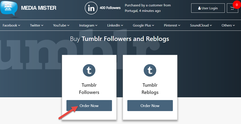 how to add a next button on tumblr