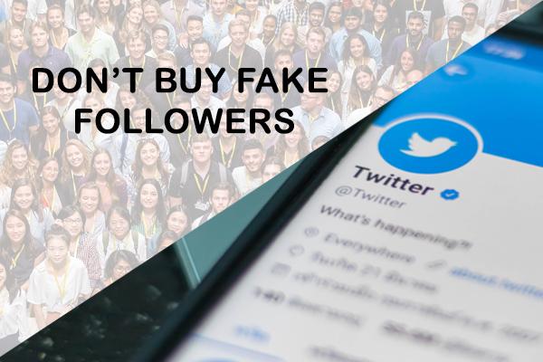 Don't buy fake followers
