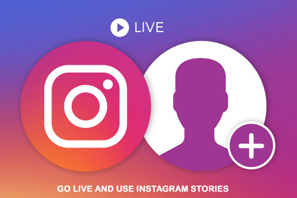 Go live and use instagram stories