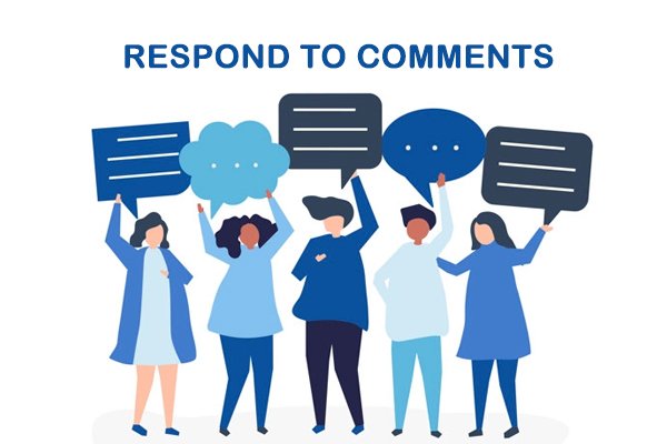 Respond to comments