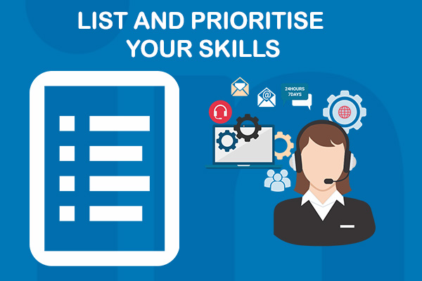 List and Prioritise Your Skills