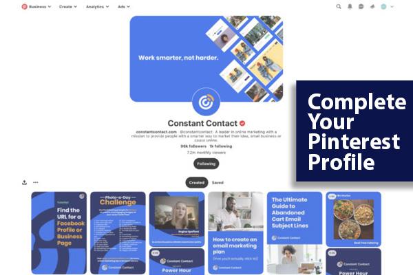 Complete Your Pinterest Profile